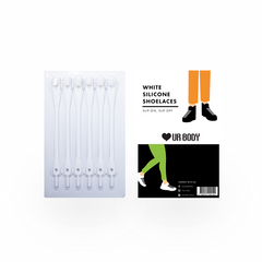 Slip On Slip Off - Silicone Shoelaces White Laces