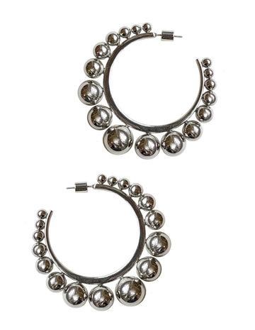 Graduated Ball Hoops - Silver