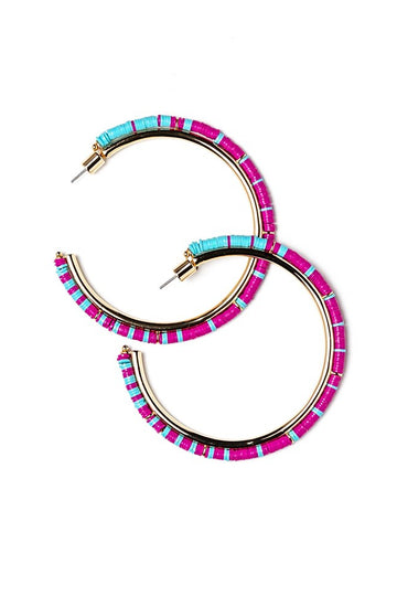 ANGUILLA HOOPS | PURPLE RAIN
