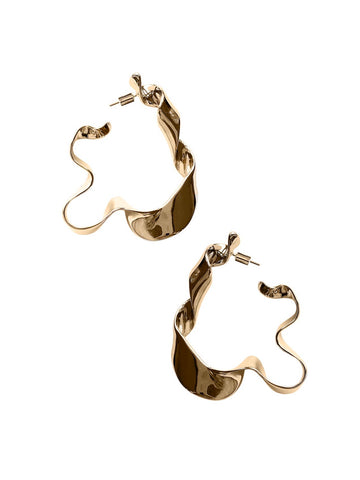 Earring | Gold Ribbon Earrings