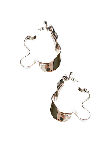 Earring | Silver Ribbon Earrings