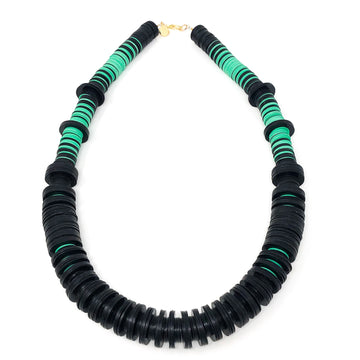 The Ranny Collection | Black | Green Necklace