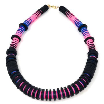 The Ranny Collection | Black | Pink | Blue Necklace