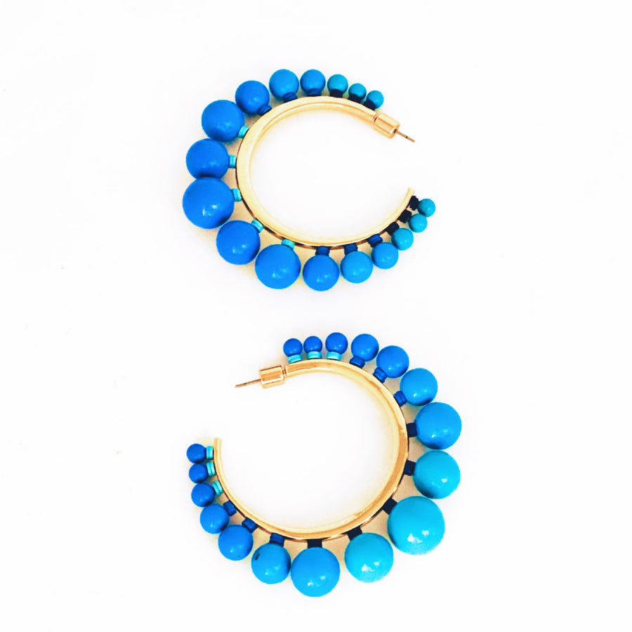 Ombre Enamel Ball Hoops