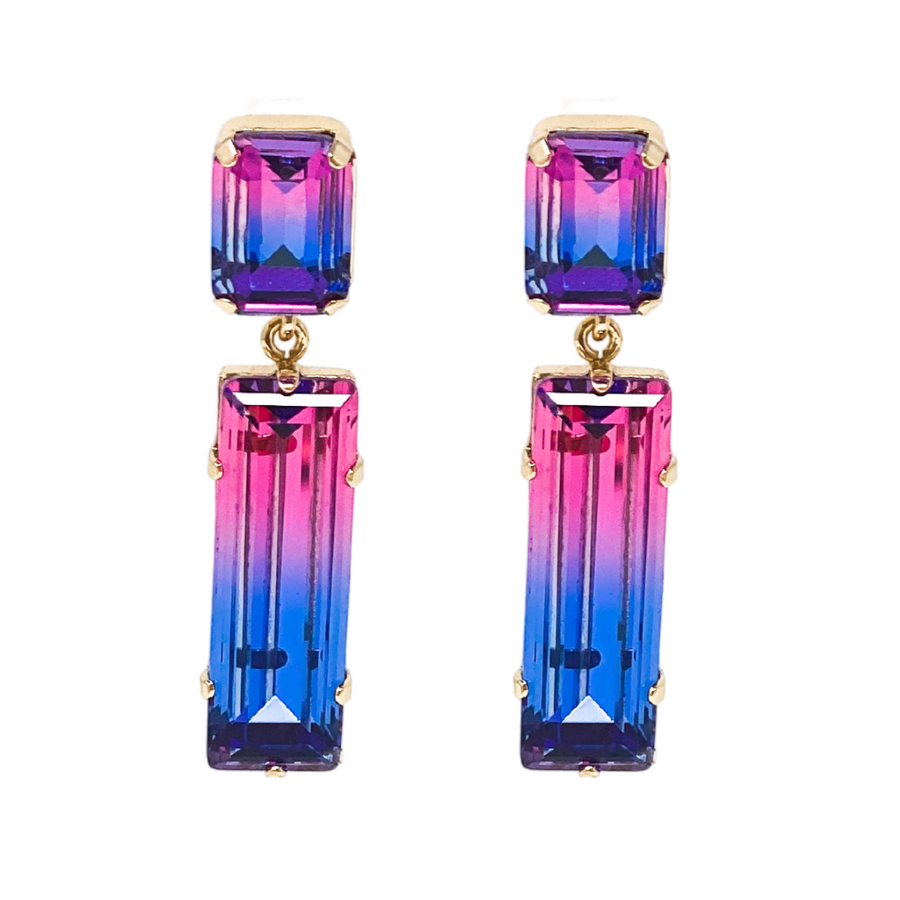 Sell Out Earrings | Pink & Blue Ombre