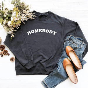 Homebody Crewneck Sweatshirt (Curved Text)