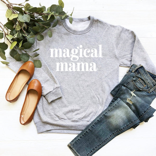 Magical Mama Crewneck Sweatshirt (Groovy Text)