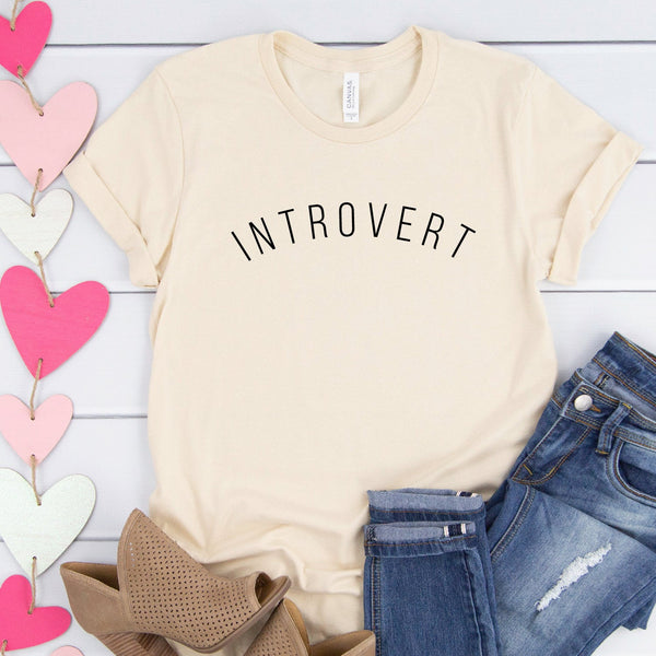 Introvert Shirt (Curved Text)