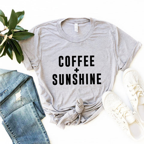 Coffee + Sunshine T-Shirt (Black Text)