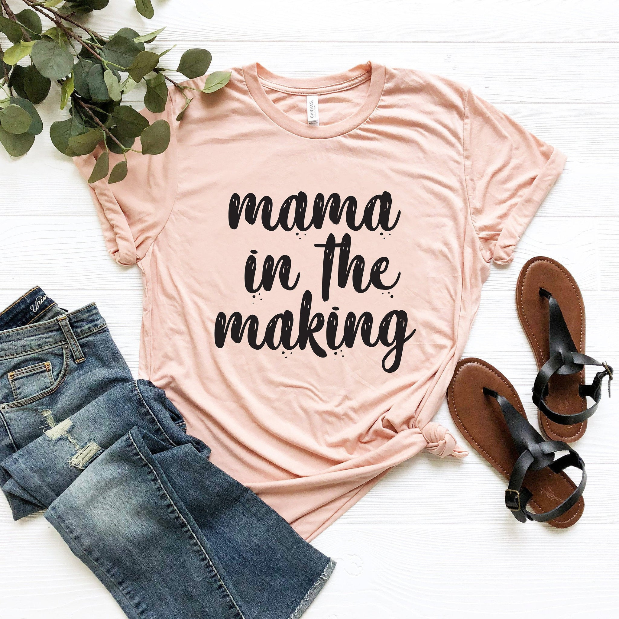 Mama In The Making T-Shirt (Block Text)