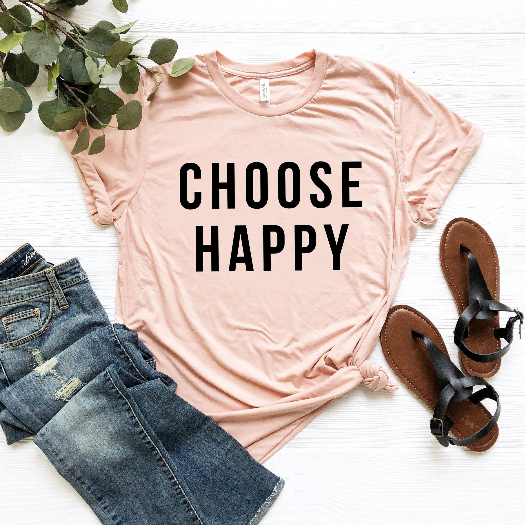 Choose Happy Shirt (White Text)
