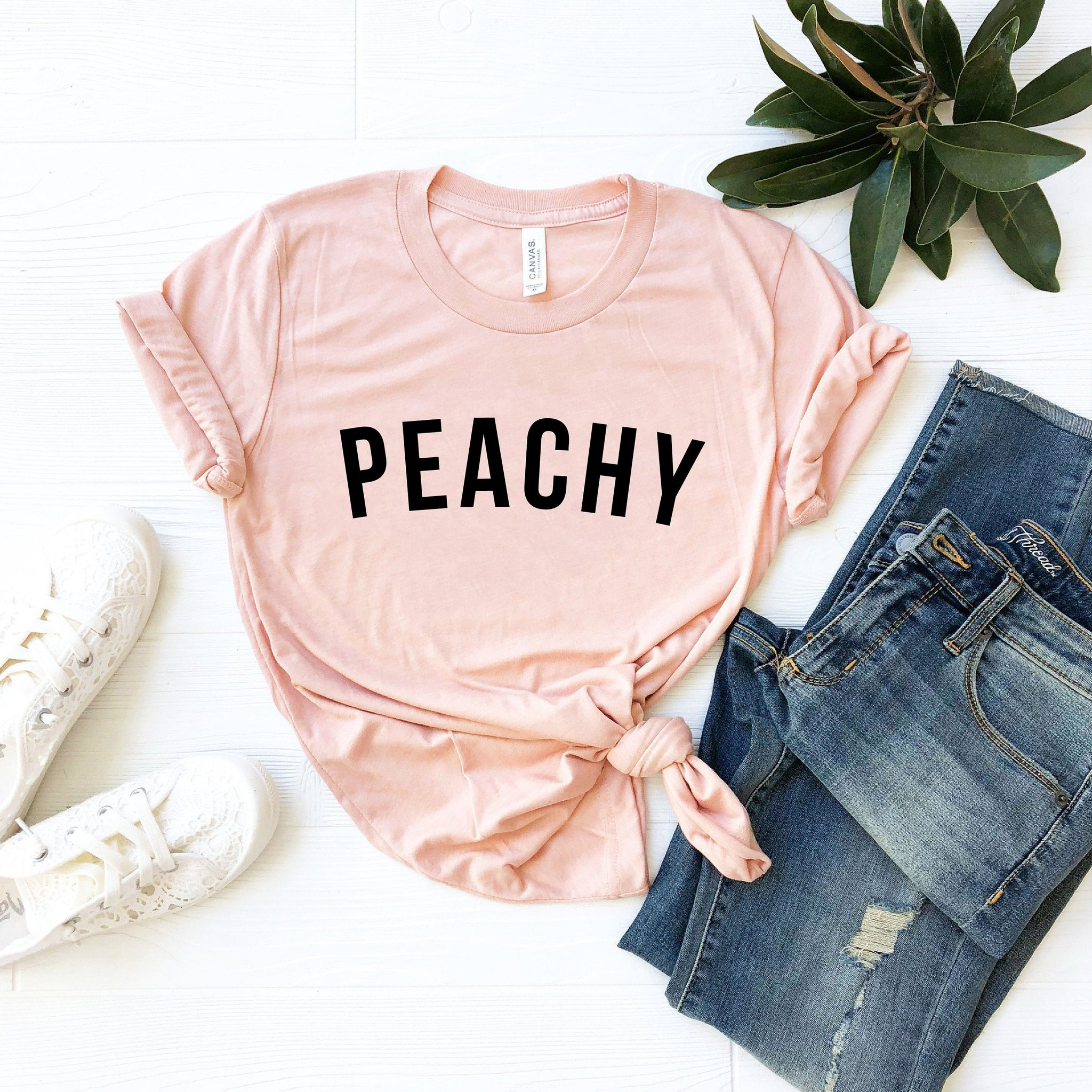 Peachy T-Shirt (Curved Text)