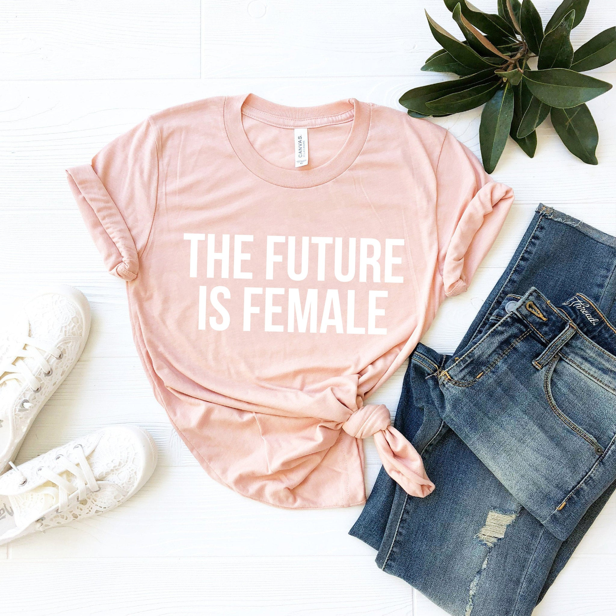 The Future Is Female T-Shirt (White Block Text)