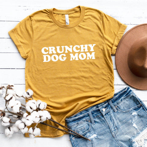 Crunchy Dog Mom T-Shirt