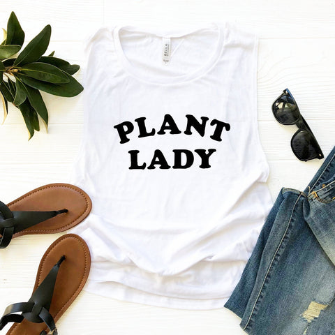 Plant Lady Tank (Black Text)