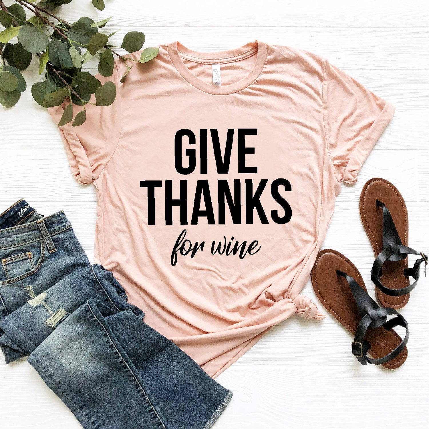 Give Thanks For Wine T-Shirt