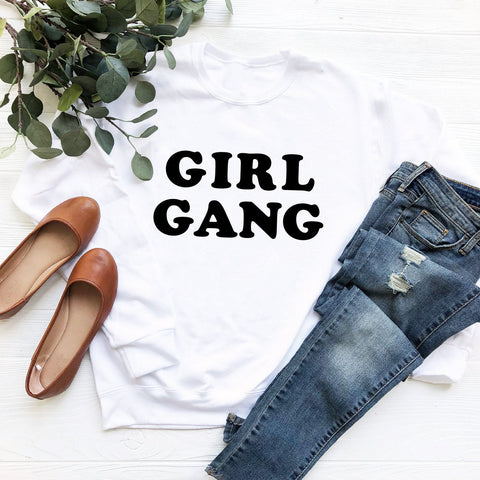 Girl Gang Sweatshirt (Groovy Black Text)