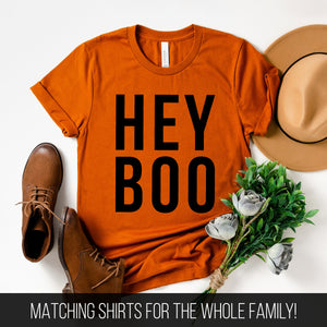 Hey Boo T-Shirt (Black Text)