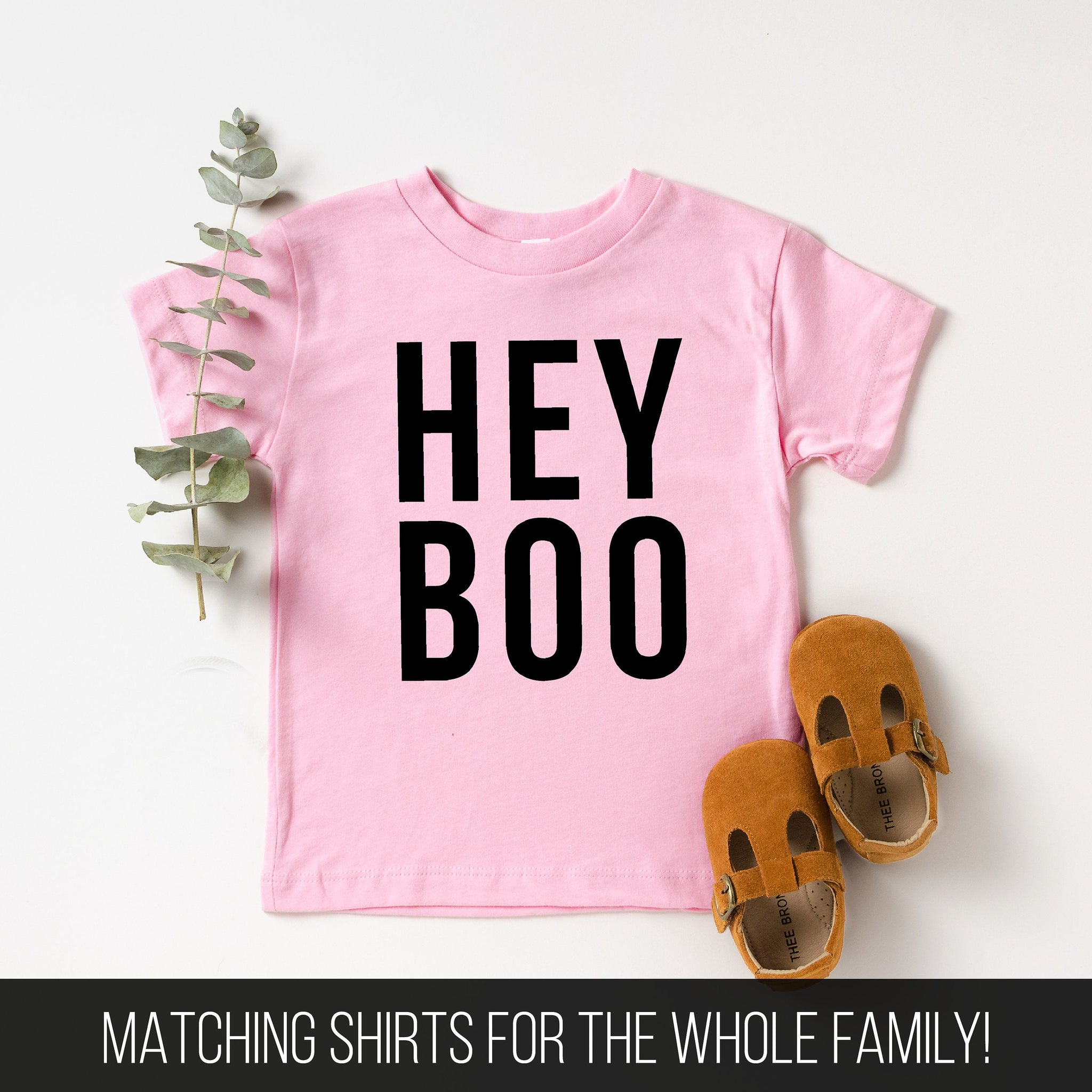 Hey Boo Toddler T-Shirt (Black Text)