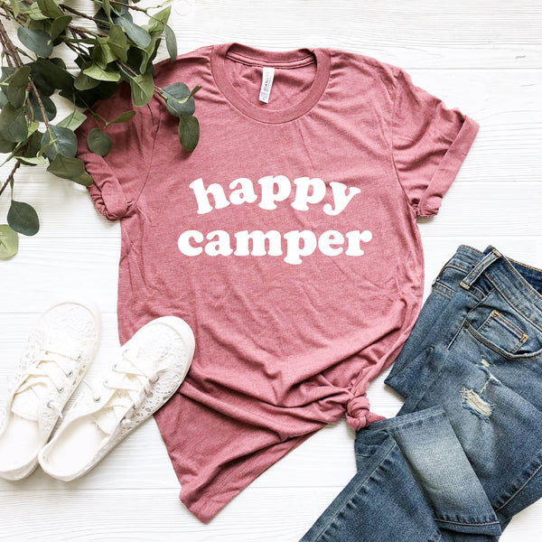 Happy Camper Shirt (Groovy Text)