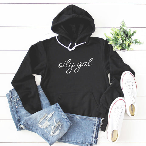 Oily Gal Hoodie Sweatshirt (Handwritten Text)
