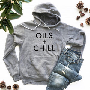 Oils + Chill Hoodie Sweatshirt (Groovy Text)
