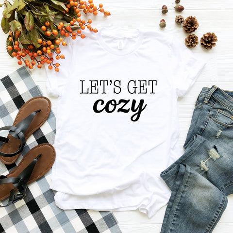 Let's Get Cozy (Black Text)