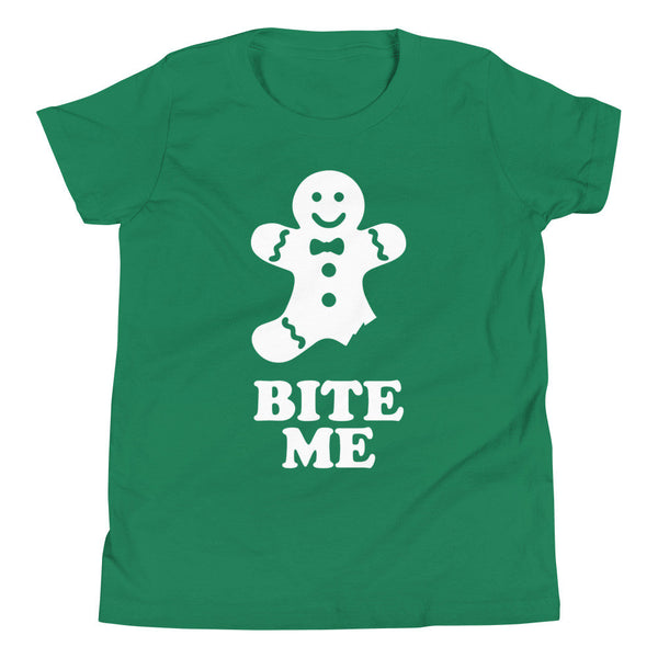 Bite Me Gingerbread Youth T-Shirt