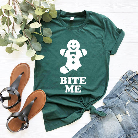 Bite Me Gingerbread Shirt