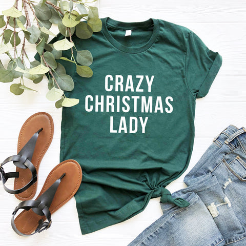 Crazy Christmas Lady Shirt
