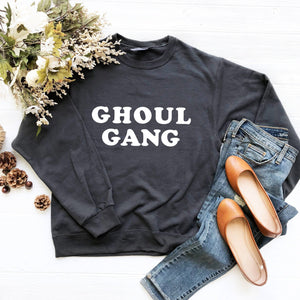 Ghoul Gang Sweatshirt (Groovy White Text)