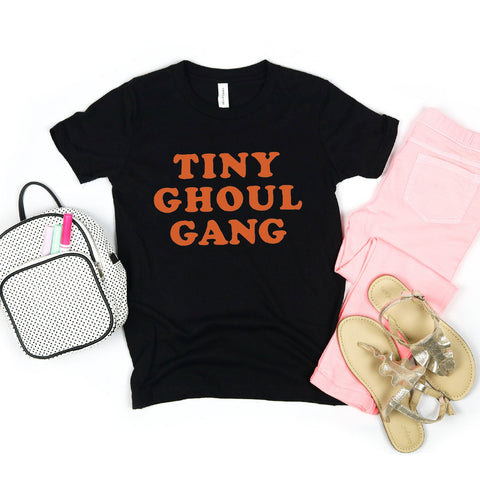Tiny Ghoul Gang Youth T-Shirt (Orange Text)