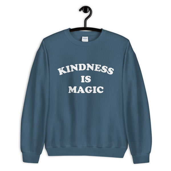 Be Kind (White Curved Groovy Text) Sweatshirt