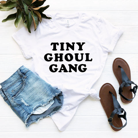 Tiny Ghoul Gang T-Shirt (Groovy Black Text)