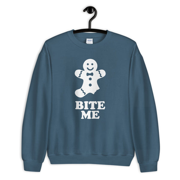 Bite Me Gingerbread Crewneck Sweatshirt