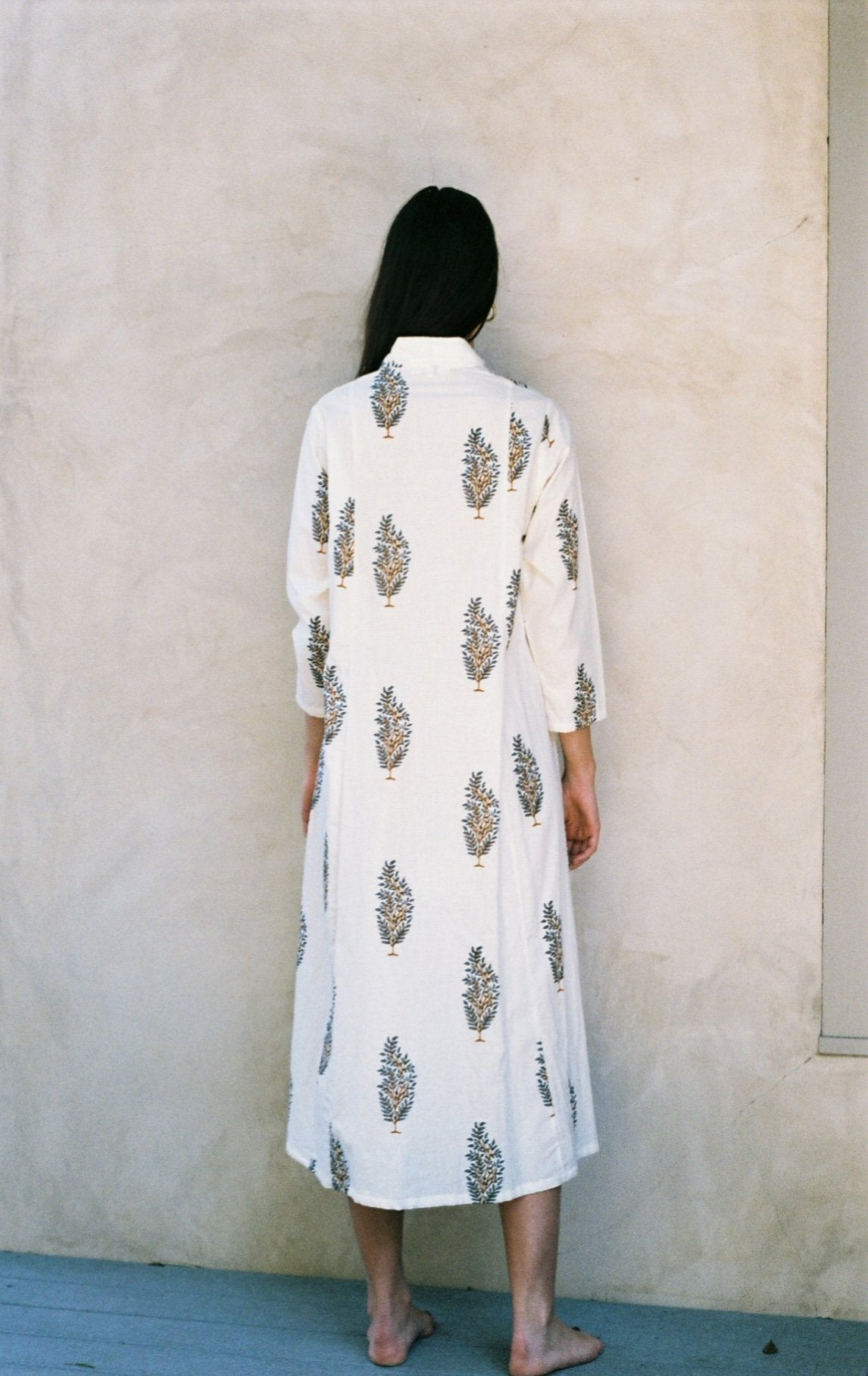 Mes Filles - House of the Sadie Dress. The new Life print, 100% Indian cotton dress.
