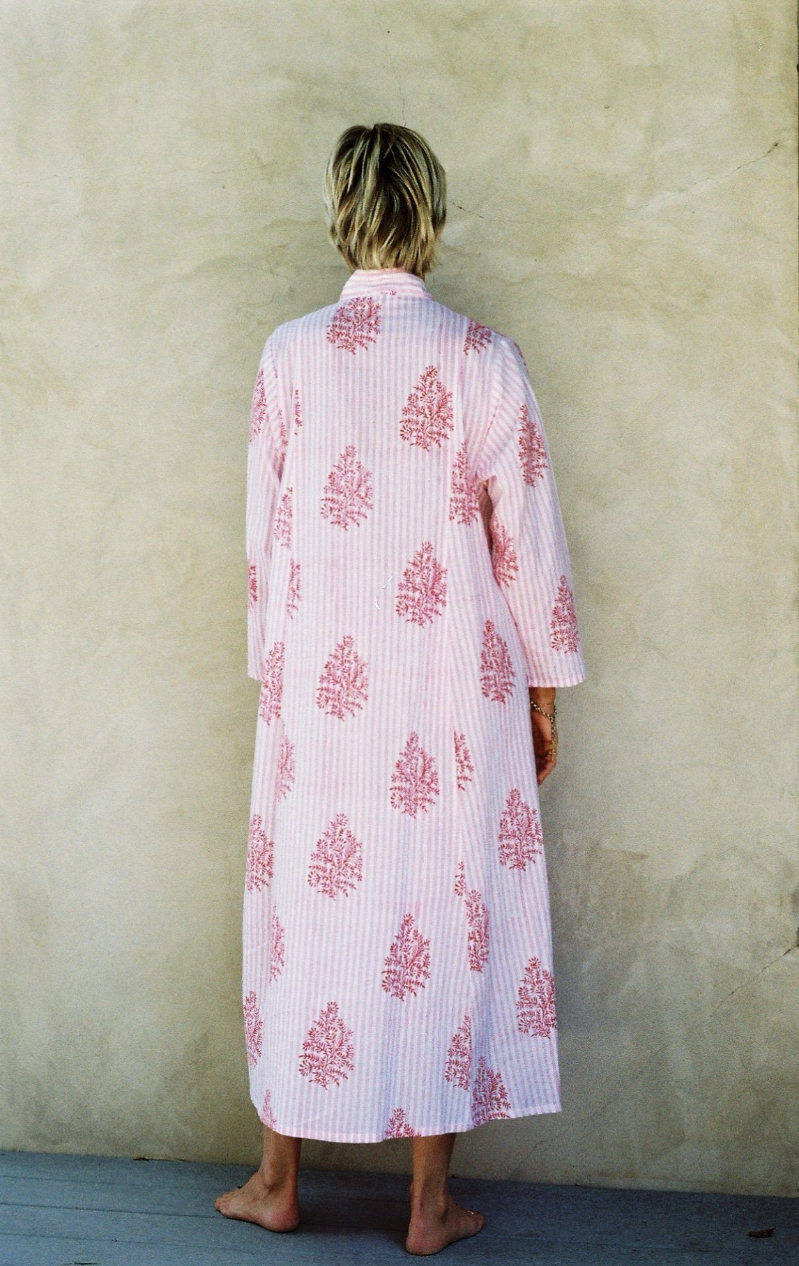 Mes Filles - The Sadie Dress. Candy Print, pink and white 100% Indian cotton dress.