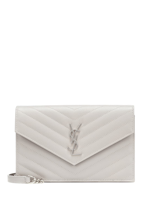 Envelope Chain Wallet Blanc