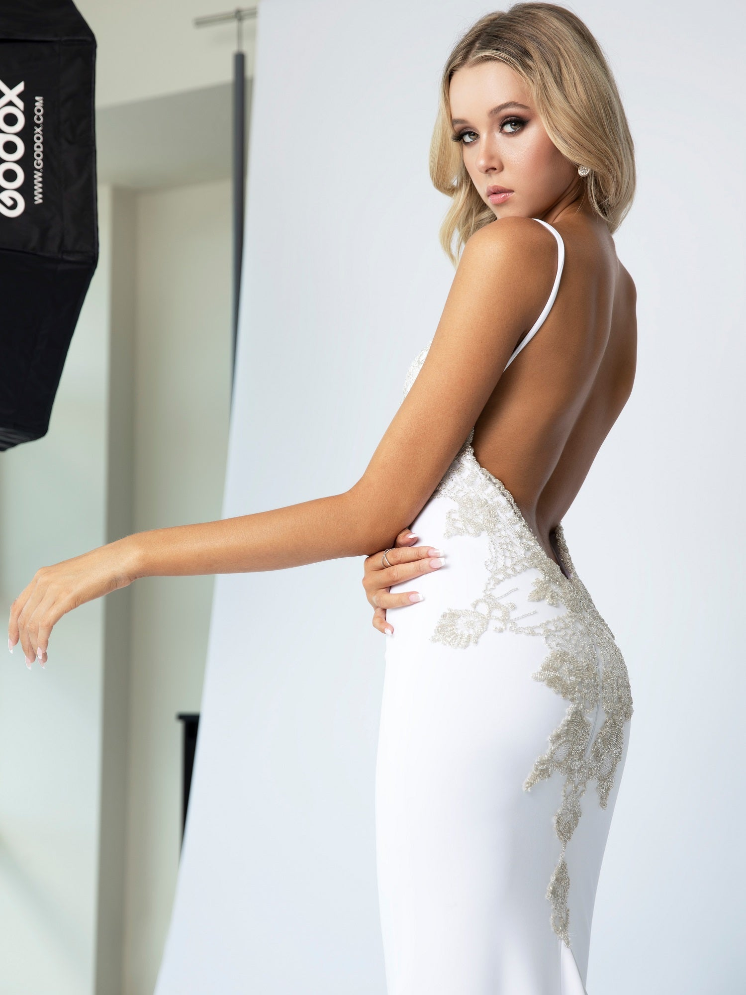 Derecourt Platinum Gown