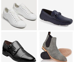 Top four men's shoes that should be in your closet. Photo cred.https://chelseabrice.com/4-shoes-every-man-should-own/ by