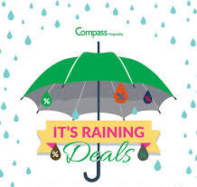 Grab yourself an umbrella, it is about to rain DEALS!!