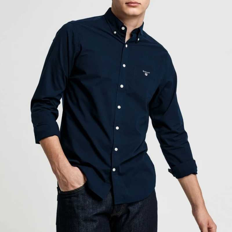 GANT Broadcloth Slim Shirt Navy