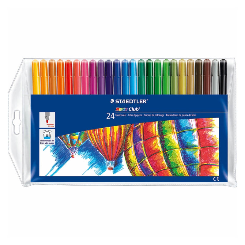 Staedtler Noris Club 326 WP20 Fibre Tip Pen in Wallet