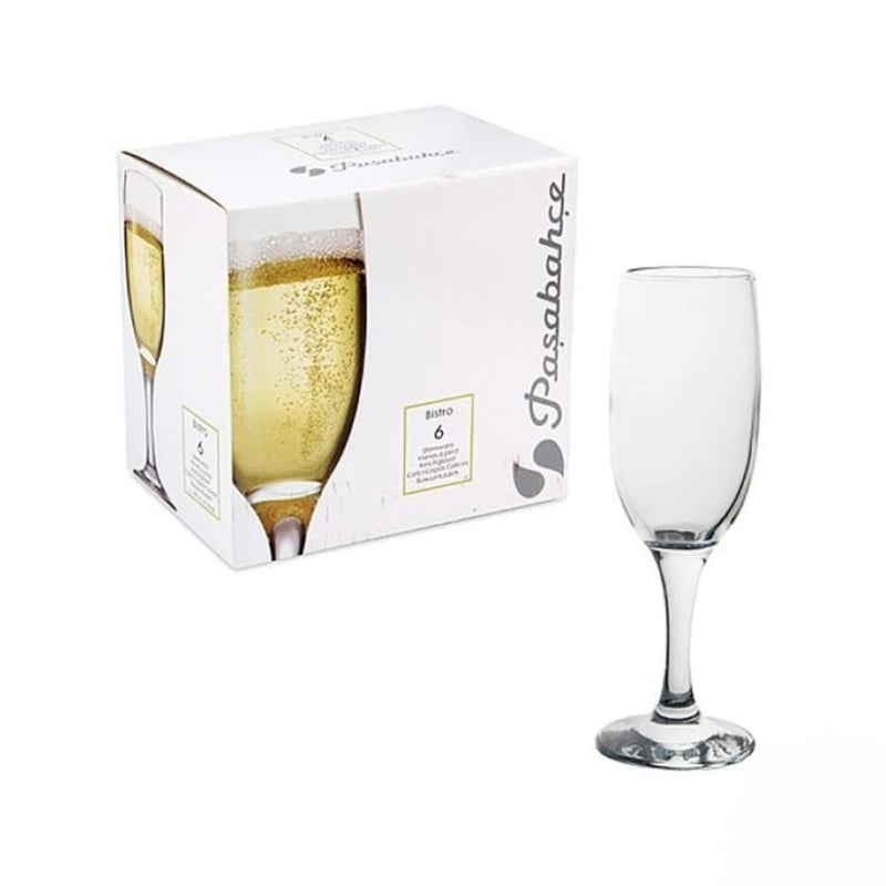 Step Champagne Glass 6 PK Pasabahce