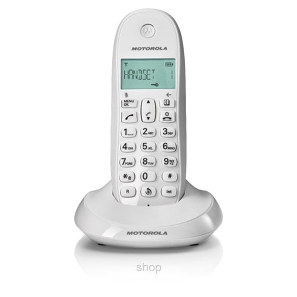 Motorola C1001 Cordeless Dect Phone - White