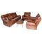 Milan 3 Piece 5 Action Brown Upper Leather Lounge Suite