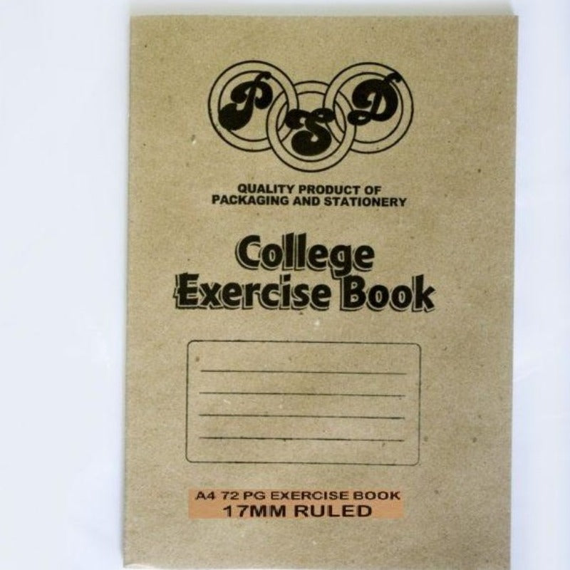 A4 Feint 17mm Ruled College Exercise Book  72 Pages