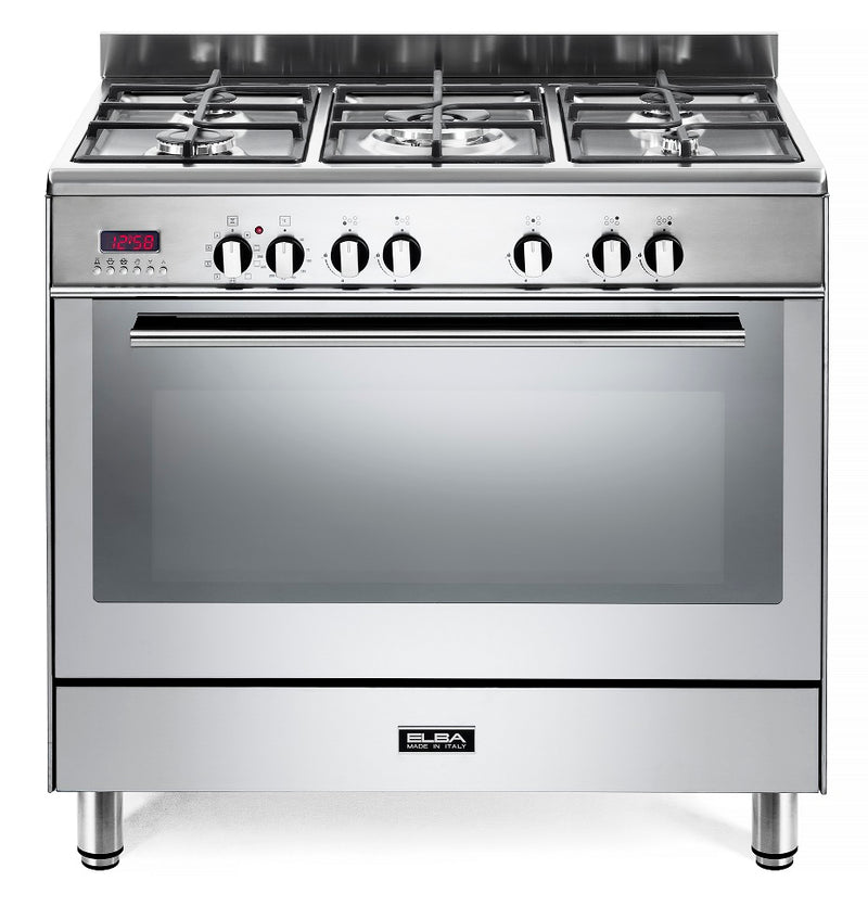 ELBA Fusion 01/9FX827N S/Steel Gas Stove  / Self Cleaning Electric  Oven