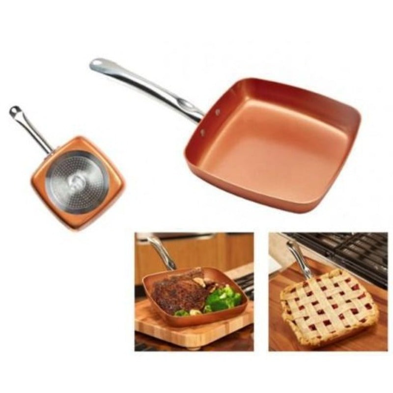 Copper Chef - 24cm Square Pan- Without lid - Non Stick Coating