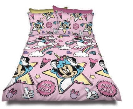 Minnie mouse pink vibes Duvet Cover set
